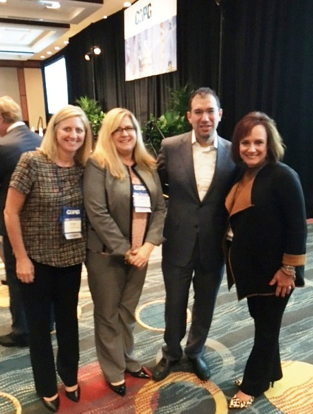 Dorothy Lockhart and Ann Spencer with CMS director at CAPG conference in DC