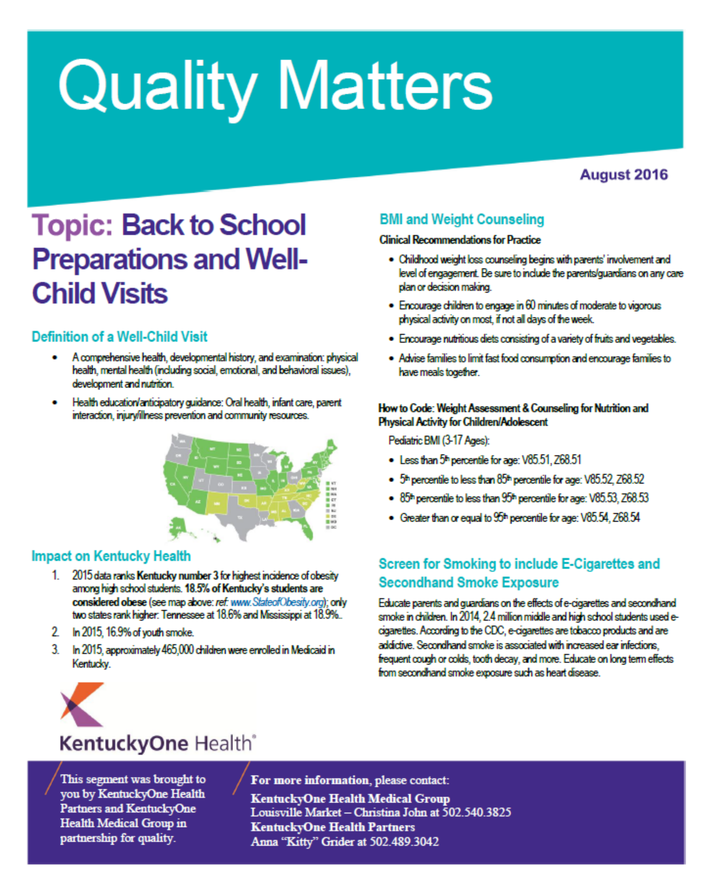 Quality Matters | For Providers | KentuckyOne Health Partners
